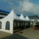 Pagoda Tents set up 2
